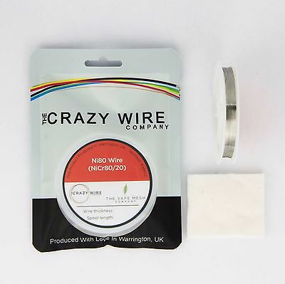 NI80 Nichrome 40 Gauge AWG (0.08mm) Resistance Wire- 1000' Roll - 216.70 ohms/m