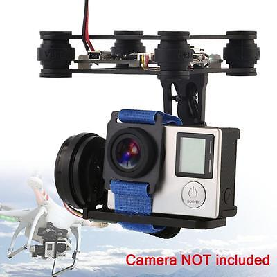 Black FPV 2 Axle Brushless Gimbal With Controller For DJI Phantom GoPro 3 4 AIw