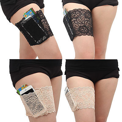 Ladies Non Slip Lace Elastic Sock Anti-Chafing Thigh Band Thigh Chafing Sock