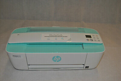 02 HP DeskJet 3730 All-in-One Wireless Printer in White and Seagrass