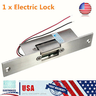 12V Electric Strike Lock Fail Safe NO Narrow-type Door Latch For Access Control