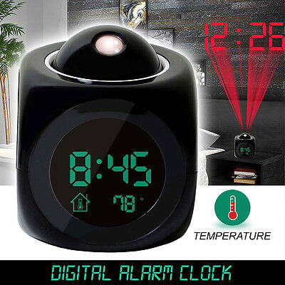 LED Projection Alarm Clock Multi-function Digital LCD Voice Talking Temperature