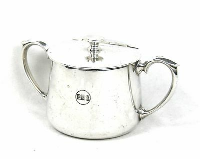 Antique Victorian Silver Plated Sugar Bowl Twin Handled Hinge Lidded 1883-1918