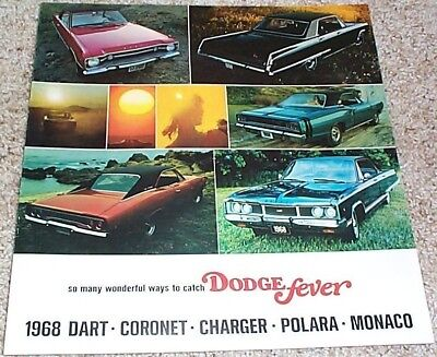 1968 Dodge Charger Charger R/T Dart R/T Coronet Polara Wagons Sales Brochure