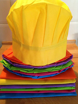 New Kids Cooking Party Pack-6 x kids aprons & 6 x chef hats-Multi-Coloured