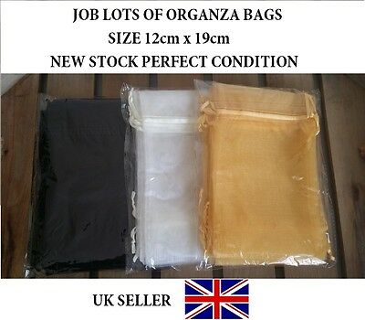 BARGAIN JOB LOTS Organza Bags Big Pouch 12cm x 19cm Gift Lingerie Clothing Xmas