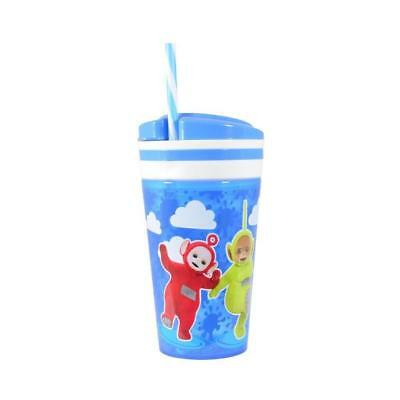 Teletubbies 2 In 1 Snack & Drink Tumbler With Straw New Gift Cup