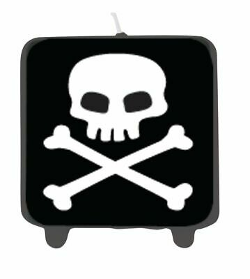 Pirate Party Jolly Roger Printed Candle Skull Birthday Party