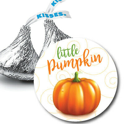 108 Little Pumpkin Fall Baby Shower Hershey Kiss Stickers Party Favors