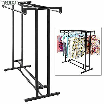 Clothing Rack Heavy Duty Commercial Store Retail Garment Metal Double Rail