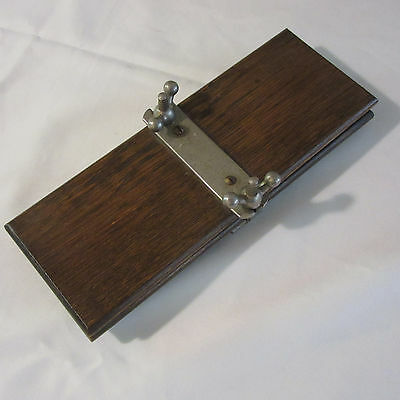 Antique Wooden Card Press Playing Cards Screw Type Footed