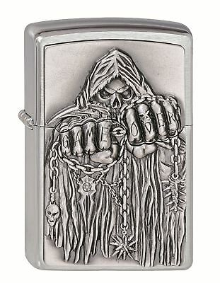 Zippo Lighter ●  Game Over Skull ● 2000860  ● Neu New OVP ● N64
