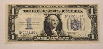 1934 $1 Silver Certificate Note Unc, Funny Back. Amazing Shape/ Great Color