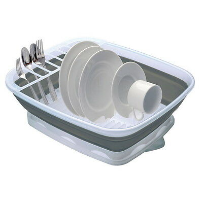 Large Collapsible Countertop Dish Rack Easy to Clean Space Saver Stores Easily