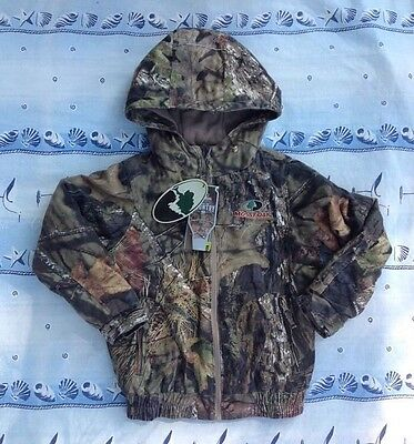 NEW! MOSSY OAK Break Up Country Camo Bomber Jacket Hooded Insulated Size 6-7