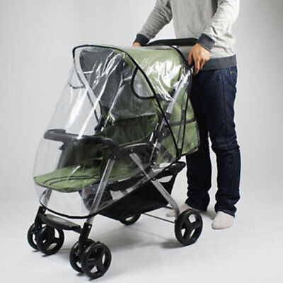 Universal Baby Pushchair Buggy Stroller Pram Transparent Rain Cover Raincoat