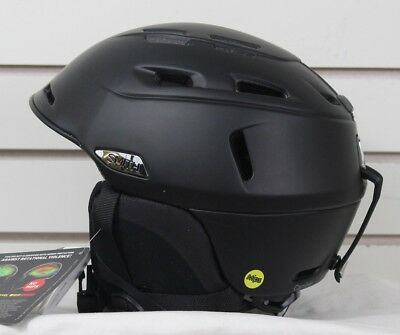 New 2016 Smith Camber MIPS Ski Snowboard Helmet Adult Medium Matte Black