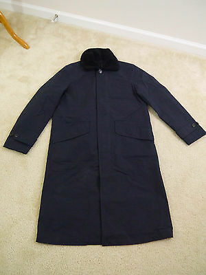 J.Crew sample Vintage trench with sherpa collar Navy size Small NWOT!