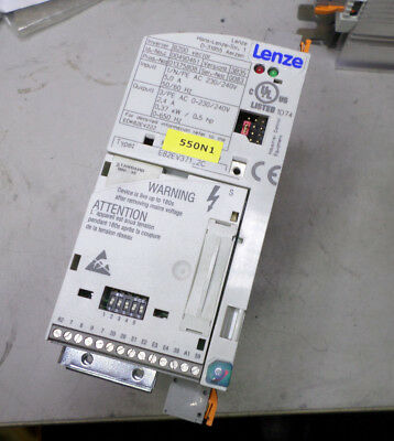 LENZE VFD 8200 VECTOR - 240ac SUPPLY - 0.37Kw 2.4amp  3 PHASE OUT + I/O Module