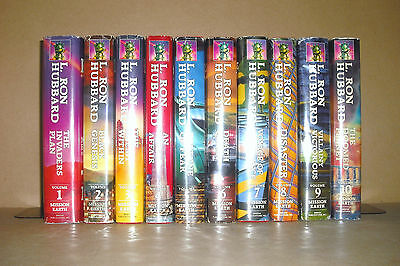 All 10 MISSION EARTH L. Ron Hubbard HC/DJ lot Black Genesis, Enemy Within, more