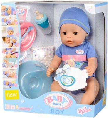 New Baby Born Interactive Doll Boy Zapf Creations Life-Like Features Accessories