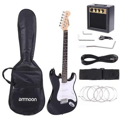 Beginner Electric Guitar with 3W Amp, Case and Accessories Pack USA Deliver 2017