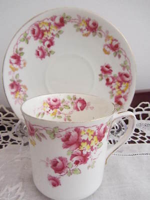 Vintage - Stoke On Trent ''roses'' Cup & Saucer Duo