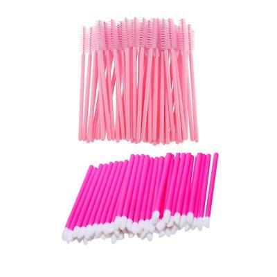 100 Pcs Disposable Eyelash Mascara Applicator Lip Gloss Brush Lipgloss Wand