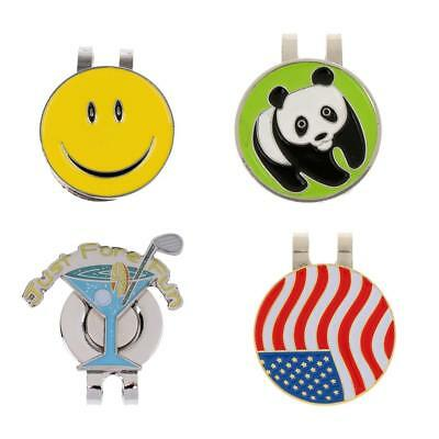 4 Pieces Golf Ball Marker Hat Clip Magnetic Detachable