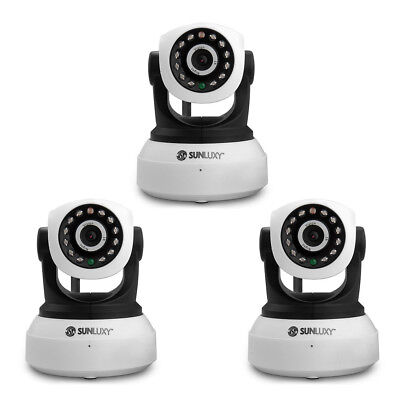 1/2/3/~/9/ SUNLUXY WiFi IP Camera HD 720P P2P P/T Wireless Night Vision Security