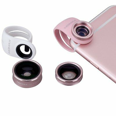 Metal 3 in 1 Wide Angle Macro Lens Fish Eye Camera Lens Set For iPhone Samsung
