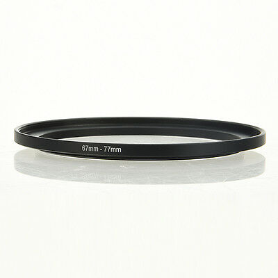 67mm-77mm 67-77mm 67 bis 77 Metall Step Up Objektiv-Filter-Ring-Adapter