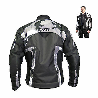 Tuzo T-Vent Summer Motorcycle Bike Short Textile Jacket Black Camo