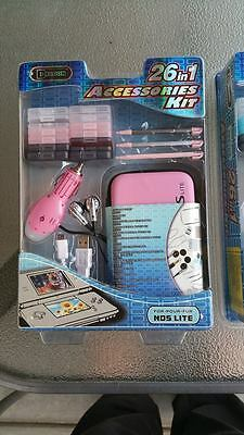 Dragon 26 in 1 Accessories Kit for NDS Lite Brand New Sealed in Packaging, PINK