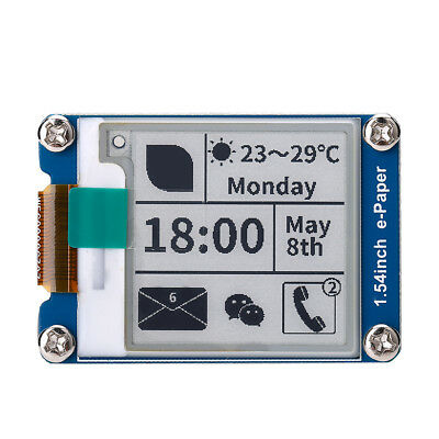 1.54'' E-Ink Display Module 200x200 Partial Refresh SPI for Raspberry Pi/Nucleo