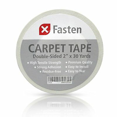 XFASTEN Durable Double Sided Carpet Tape 2-Inch x 30 Yards *NEW*