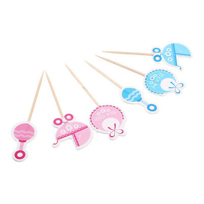 Trendy Boy/Girl Type Kids Birthday Cupcake Toppers Baby Shower Cake Decorations