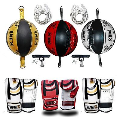 """Double End Speed Ball BoxingTraining Floor To Ceiling Ball With 5""""Ceiling Hook"""