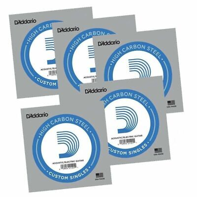 5 x D'Addario PL024  single plain steel Electric / Acoustic Guitar strings