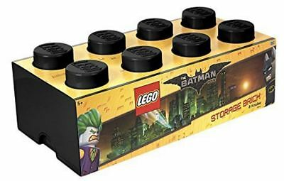 New Batman Lego Movie Storage Brick 8 Black Stackable Plastic For Home & Office