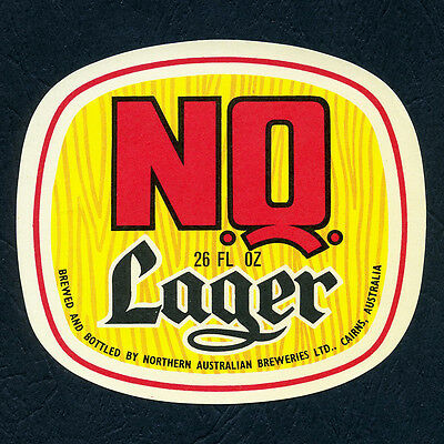 26 FL OZ. NQ Lager - Vintage Beer Label (Near Mint Condition)