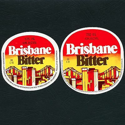 2 x Different Brisbane Bitter Beer Labels