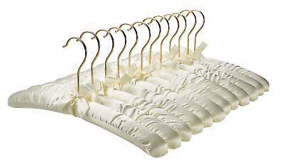 Florida Brands Satin Padded Hangers, with Gold Hooks, 12-pack