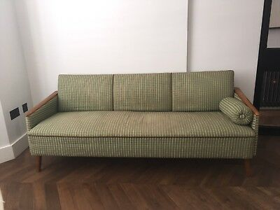 Mid Century, 20th Century, 1960s Original, East German 3 Seater Sofa/ couch