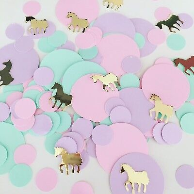 Unicorn Pastel Table Top Confetti | Girls Birthday | Baby Shower | Christening