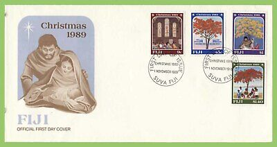 Fiji 1989 Christmas set on First Day Cover
