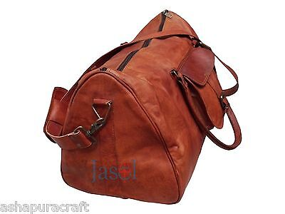 Men s genuine Leather large Triangle duffel travel gym weekend overnight bag  New e15b6b51b1523