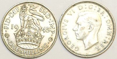 1937 to 1946 George VI Silver English Shilling Your Choice of Date