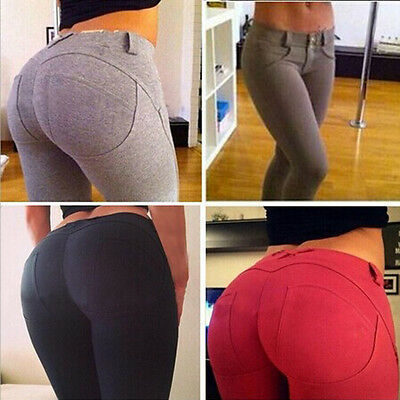 US Stock High Waist Skinny Women Leggings Stretchy Pants Jeggings Pencil Pants