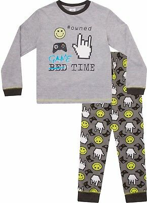 Boys Game Time  Owned Long Pyjamas 8 to 15 Years COMPUTER GAME  W17